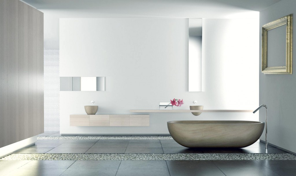 baño iluminado