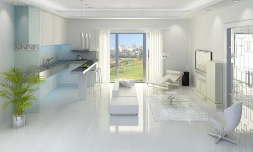 El color blanco aumenta visualmente los espacios
