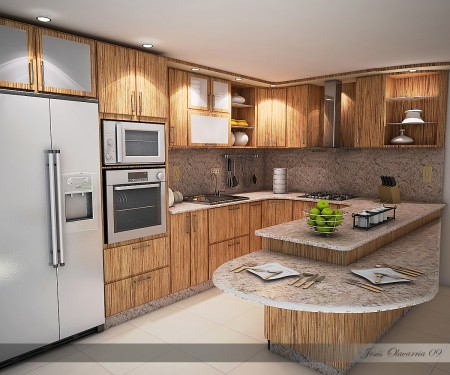 Ubicaci n del horno y el microondas for Ubicacion de cocina