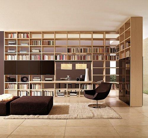 Bibliotecas en la sala de estar